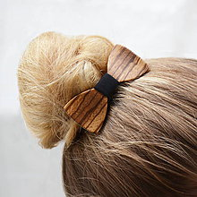 Ozdoby do vlasov - Drevený motýlik do vlasov - zebrano - 8122622_