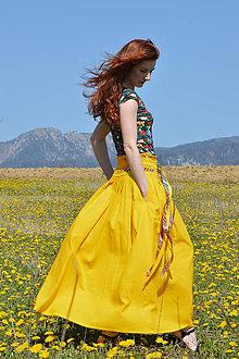 Sukne - Crochet waist skirt - sunflower - 8123354_