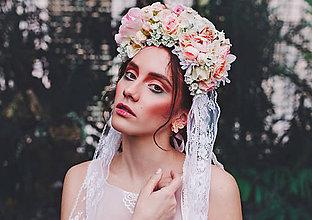 Ozdoby do vlasov - Kvetinová parta