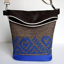 Veľké tašky - Vyšívaná kabelka