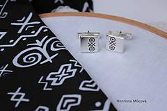 Šperky - Manžetové gombíky s folklórnym vzorom - Čičmany - 8123421_