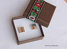 Šperky - Manžetové gombíky s folklórnym vzorom - Čičmany - 8123423_