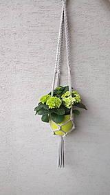 Záves na kvetináč - bavlna - 90 cm