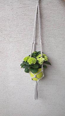 Dekorácie - Záves na kvetináč - bavlna - 90 cm - 8123345_