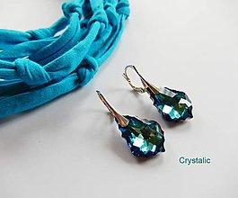 Náušnice - Strieborné náušnice Baroco se Swarovski crystals - 8126789_