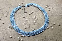 Náhrdelníky - náhrdelník nezábudkovomodrý - 8126018_