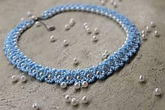 Náhrdelníky - náhrdelník nezábudkovomodrý - 8126019_