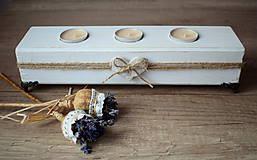 Svietidlá a sviečky - Svietnik na čajové sviečky - 8126416_