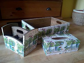 Krabičky - sada bylinky - 8125049_