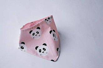 Detské doplnky - Nákrčník / šatka tenký ružové pandy - 8124935_