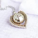 Náhrdelníky - náhrdelník MAXI SRDCE - 8127659_