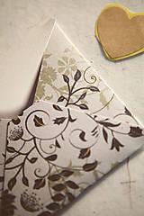 Papiernictvo - Obálka na peniaze / prianie / drobnosti - 8126516_
