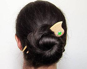 Ozdoby do vlasov - Drevená spona do vlasov - 8126256_