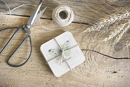 Pomôcky - Podšálky s motýľmi - 8127145_