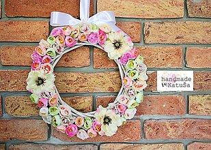Dekorácie - vintage veniec s motýľom - 8126264_