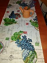 Úžitkový textil - štóla vinič 40 x 120 cm - 8125220_
