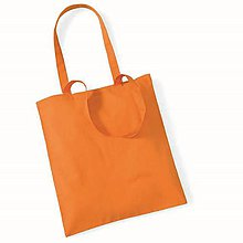 Polotovary - Bavlnená taška Oranžová - 8126712_