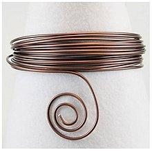 Komponenty - Hliníkový drôt Čokoládová matná Ø2 mm - 8127049_