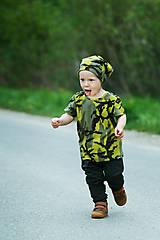 Detské oblečenie - Maskáč tričko s hviezdami - 8125402_