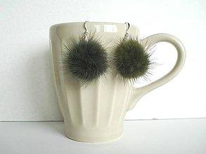 Náušnice - Náušnice machové bombuľky lesnej víly - 8128124_