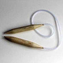 Galantéria - Drevené kruhové pletacie ihlice veľkosť 20mm - 8126006_