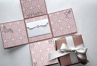 Krabičky - Krabička ku krstu/na prijímanie - 8124948_