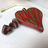 Sady šperkov - Betónový set LOVE Art red-gray - 8125688_