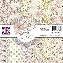 Papier - CreatiefArt - Background design 07 (jemné kvetinové papiere na scrapbooking, 15x15) - 8124858_