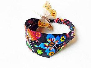 Detské doplnky - Detská čelenka na gumičku Butterfly - 8127906_