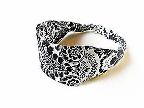 Detské doplnky - Detská čelenka na gumičku Black&White - 8127950_