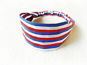 Detské doplnky - Detská čelenka na gumičku Navy - 8127954_