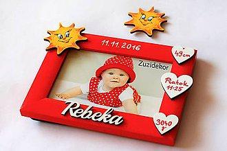 Detské doplnky - Fotorámik slniečkový s údajmi o narodení - 8125700_