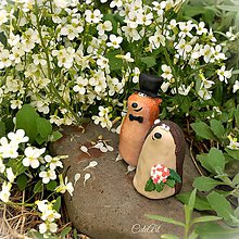 Dekorácie - Ježko a syseľ - figúrky na svadobnú tortu - 8127297_