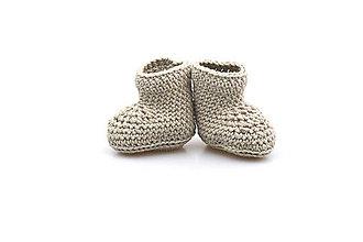 Topánočky - Béžové papučky EXTRA FINE - 8125995_