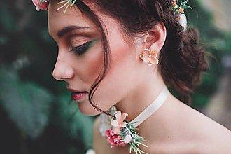 Náušnice - Kvetinové marhuľkové náušnice