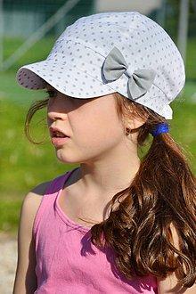 Detské čiapky - Letná šiltovka Fine & dots - 8128320_