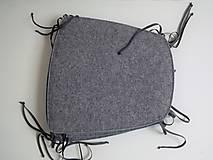 Úžitkový textil - Podsedák filcový so šnúrkami - 8126091_