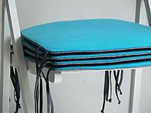 Úžitkový textil - Podsedák filcový so šnúrkami - 8126098_