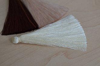 Polotovary - Strapec hodvábny slonovinová kosť 65mm, 0.70€/ks - 8125915_
