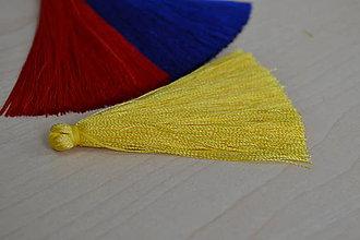 Polotovary - Strapec hodvábny žltý 65mm, 0.70€/ks - 8126008_