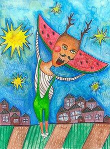 Obrazy - v melónovom cukre - 8125213_