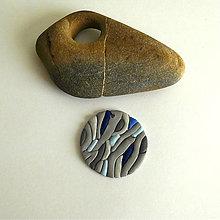 Náhrdelníky - Mozaikový prívesok - 8126299_