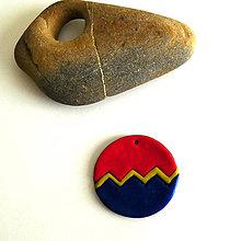 Náhrdelníky - Mozaikový prívesok (dva svety) - 8128185_