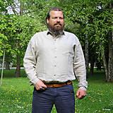 Oblečenie - Ľanová košeľa Leslav prírodná - 8130653_