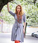 Šaty - Úpletové šaty BREA, světléšedé - 8130747_
