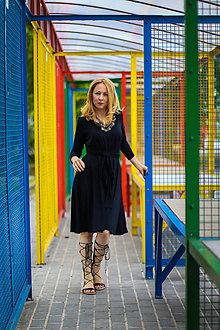 Šaty - Úpletové šaty BREA, černé - 8130348_