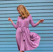 Šaty - Úpletové šaty BREA, jemná růžová - 8130724_