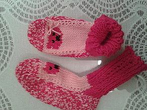 Topánočky - Detské ponožky - cyklaménky - 8128767_