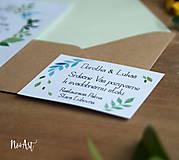Papiernictvo - Svadobné oznámenie 20 - 8130083_