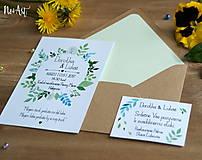 Papiernictvo - Svadobné oznámenie 20 - 8130084_